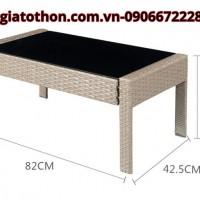 bàn ghế sofa giả mây rẻ