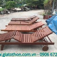 ghế gỗ thư giãn ngoài trời