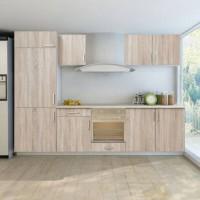 thiết kế ttur bếp gỗ tự nhiên