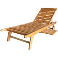 Ghế tắm nắng bằng gỗ keo