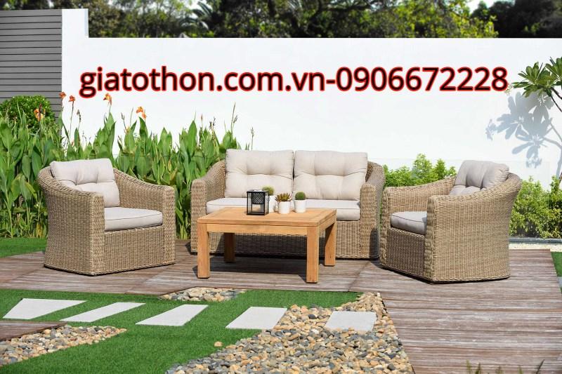 bộ sofa cong sân vườn