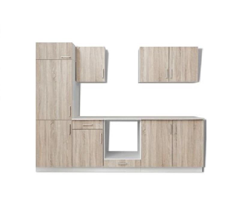 Tủ bếp gỗ sồi tích hợp