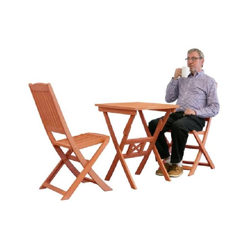 Bàn ghế gỗ 3 món