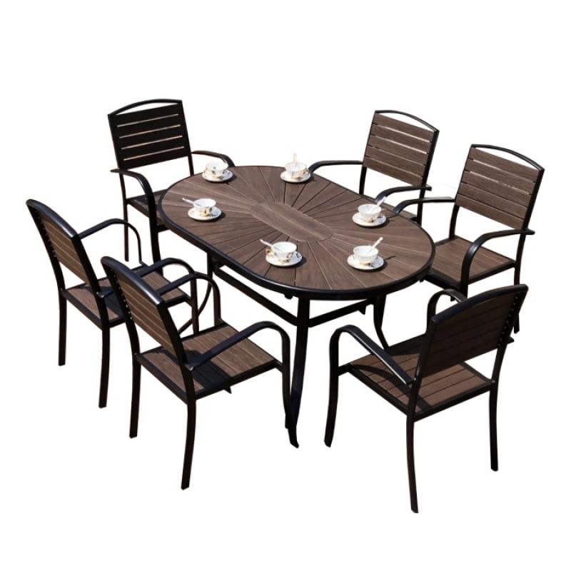 Bộ bàn nhôm đúc  ngoài trời 02